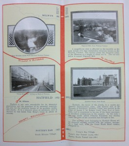 Image of route diagram with captions and photographs.