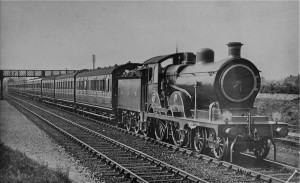 Image of steam express train.
